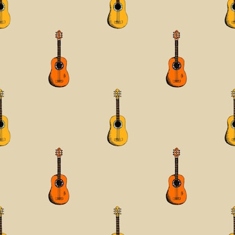 Background with guitar. sound and acoustic musical instrument.