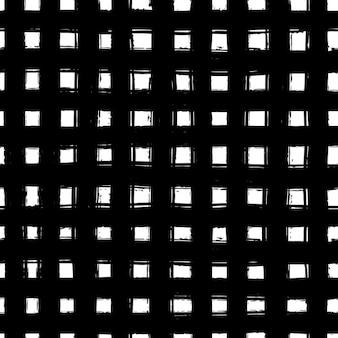 Seamless pattern su sfondo bianco con la linea disegnata a mano nera
