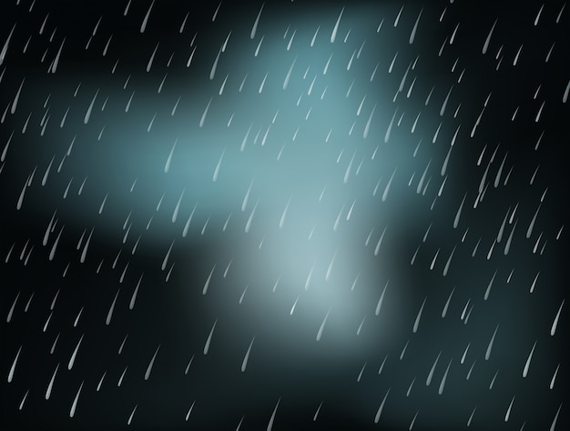Background with heavy rain at night