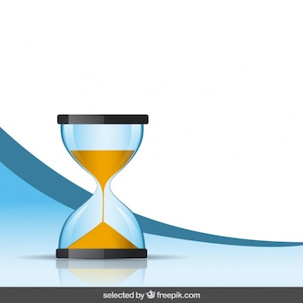 모래 시계와 배경