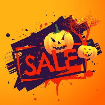 Background with ink blots for halloween sales