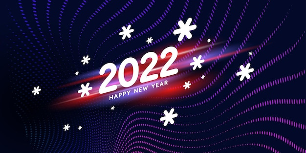 Background with the inscription happy new year 2022 vector illustration in modern style