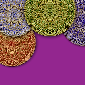 Background with islamic round ornament