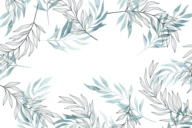 Background with leaves copy space