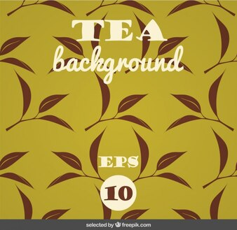 Background with leaves of tea