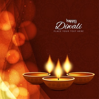Background with lights and ornaments for diwali