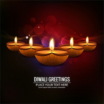 Background with lights to celebrate diwali