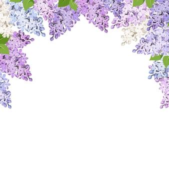 ライラック色の花の背景。図。