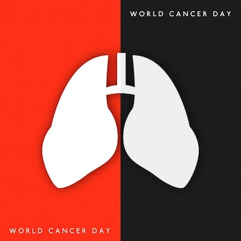 Background with lungs for world cancer day