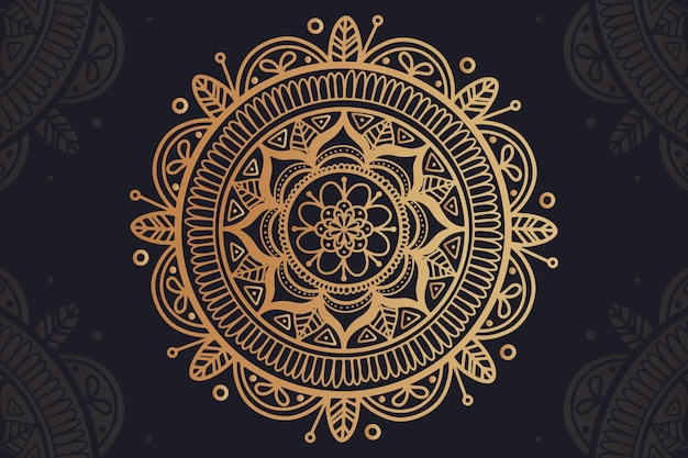 Background with luxury mandala concept