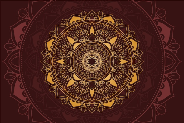 Background with luxury mandala theme
