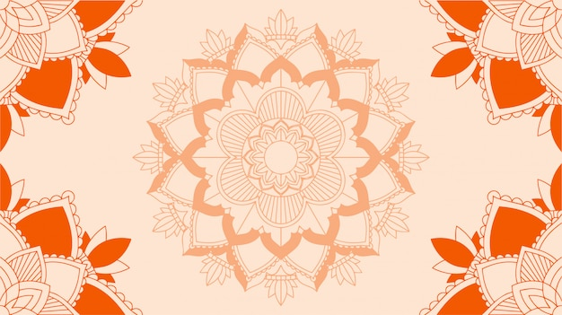Background with mandala design