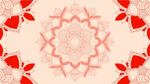 Background with mandala designs