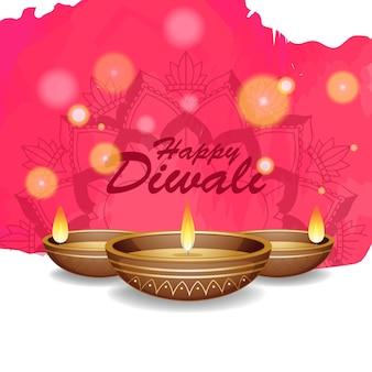 Sfondo con mandala pantern per felice diwali festival