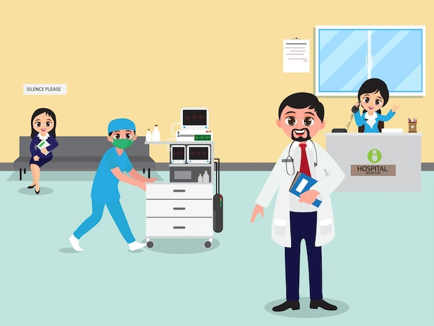 Background with medical clinc design