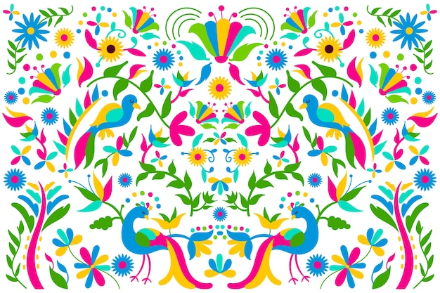 Background with mexican theme