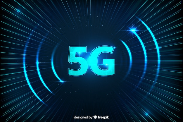 Background with modern 5g concept