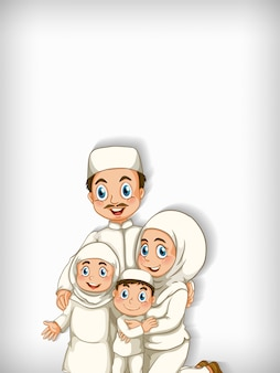 Background   with muslim family