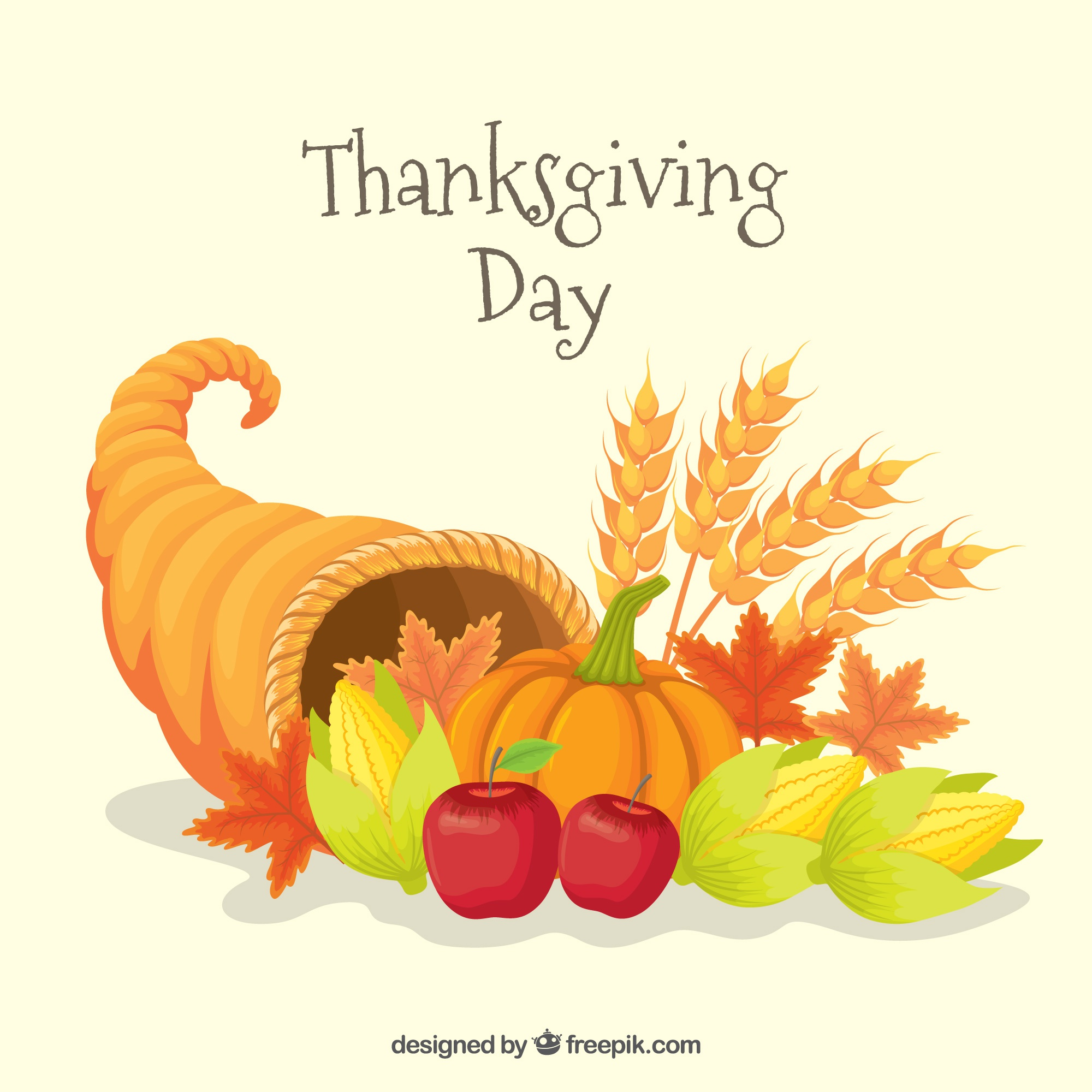 Background with natural elements of thanksgiving