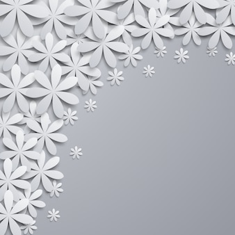 Background with paper floral elements.