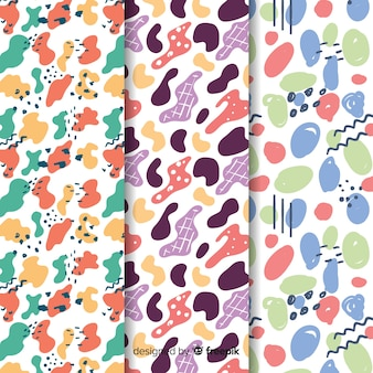 Background with pattern collection draw