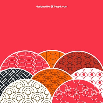 Background with patterns in japanese style