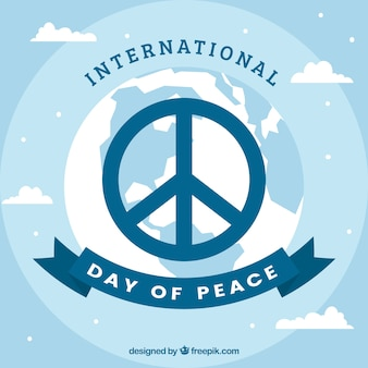 Background with peace symbol