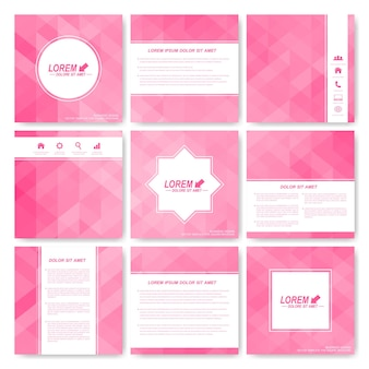 Background with pink triangles illustration