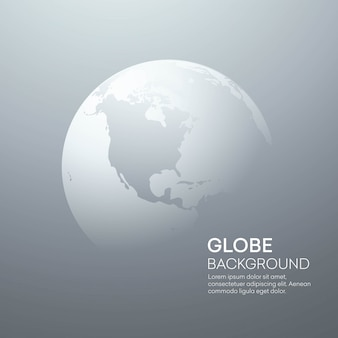 Background with planet earth globe