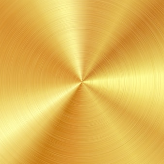 Background with polished brushed gold surface