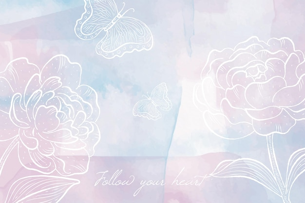 Background with powder pastel elements style