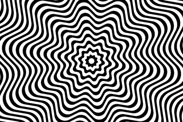 Background with psychedelic optical illusion