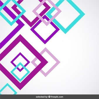 Background with purple and turquoise squares