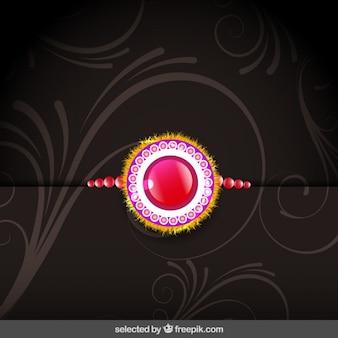 Background with rakhi wristband