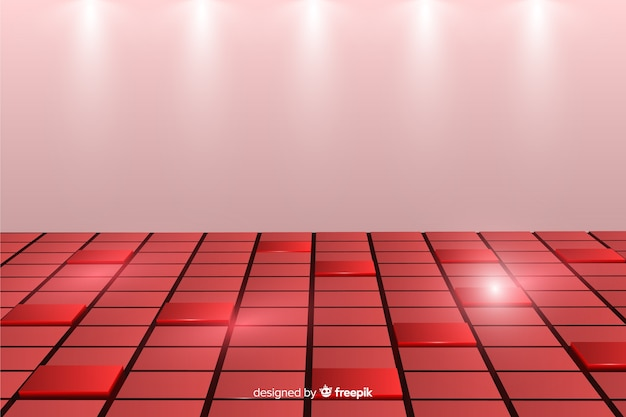 Background with realistic cubes floor