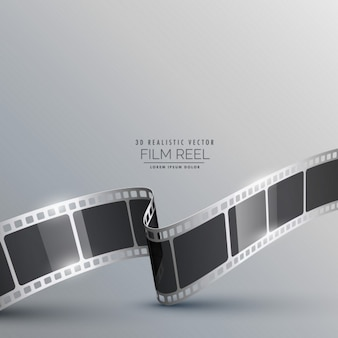 Background with realistic film strip