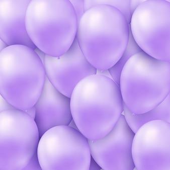 Фон с реалистичными гелиевых шаров.