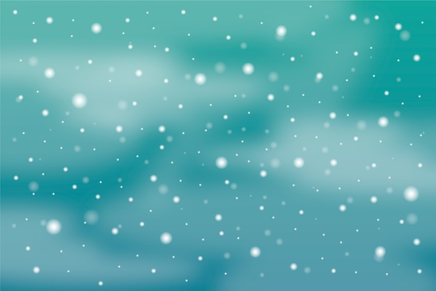 Background with realistic snowfall theme