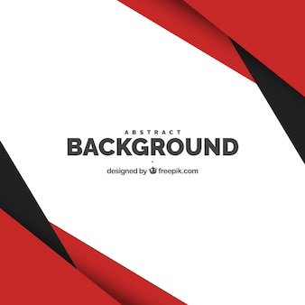 Background with red and black shapes