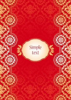 Background with red and gold ornaments
