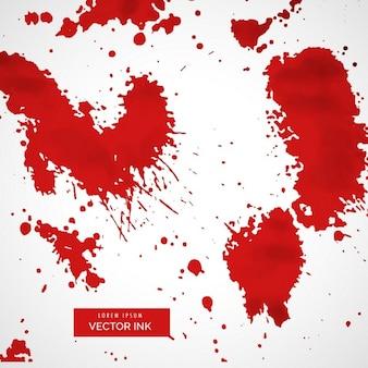 赤いペンキの汚れと暗い背景