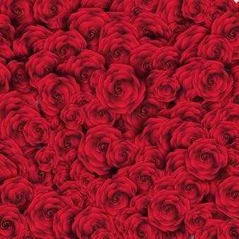 赤いバラと背景