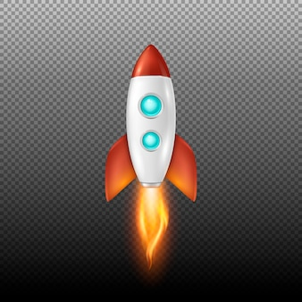 Фон с запуском ретро космического ракеты