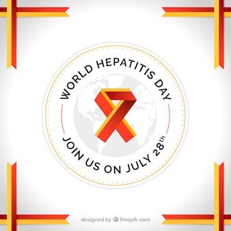 世界肝炎デーのリボンと背景