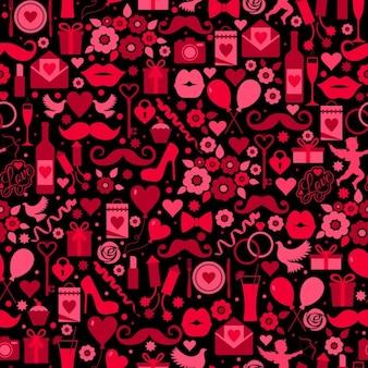 バレンタインのためのロマンチックな要素を持つ背景