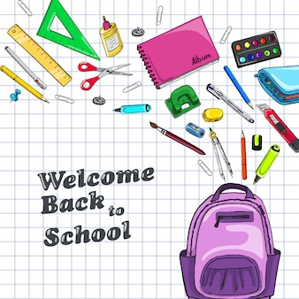 Background with school subjects