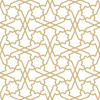 Background with seamless pattern in islamic style.