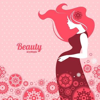 妊娠中の女性のシルエットの背景