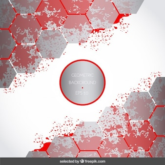 Background with silver hexagons and stains