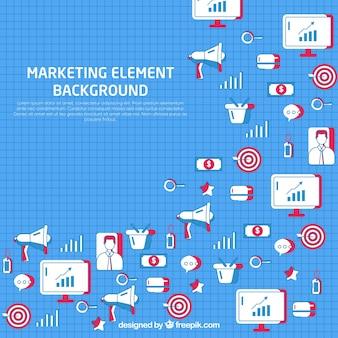 작은 마케팅 요소와 배경